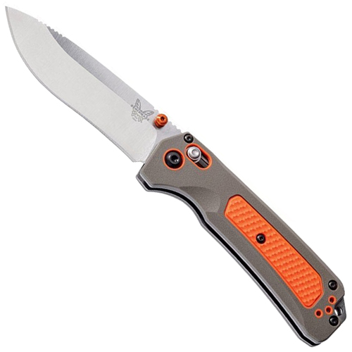 Grizzly 15061 Satin Finish Drop-Point Blade Folding Knife