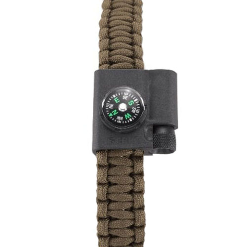 CRKT Stokes Paracord Survival Bracelet Accessory Compass And LED