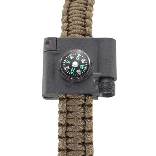 CRKT Survival Bracelet Accessory With Compass LED And Fire Starter
