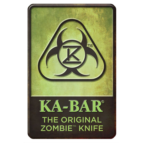 Ka-Bar 1-5700SIGN-4 Original Zombie Tin Knife Sign