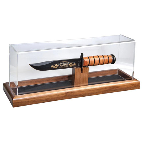 Dome Wood-Base Presentation Case for up to 13 Inch Long Knife