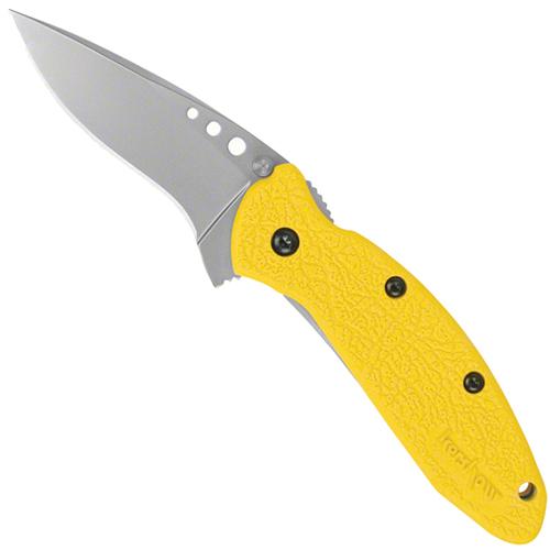 Kershaw Scallion Spring Assist Knife W/ Yellow GFN