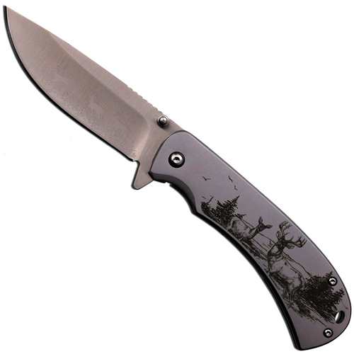 Master Collection Eagle Art Work 4.5 Inch Folding Knife