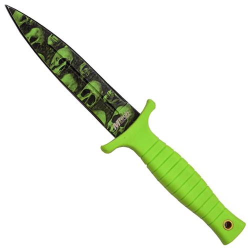 Mtech USA Green Rubber Fixed Blade Knife