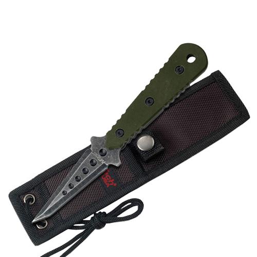 MTech USA 20-37GN Stonewash Finish Fixed Blade Knife - Green