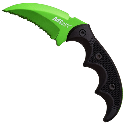 MTech USA Green Blade Stainless Steel 5 Inch Fixed Blade Knife
