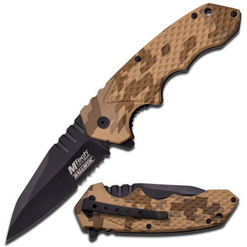 MTech USA Spring Assisted 5 Inch Desert Camo Handle Folding Knife