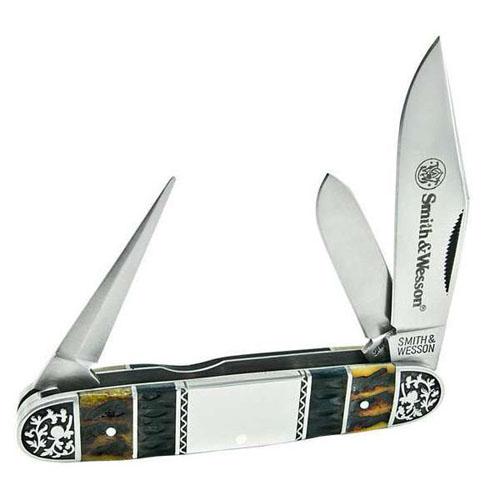Smith & Wesson Cattle Bone Folding Knife