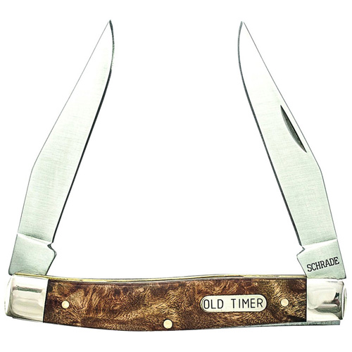 Schrade Game Muskrat 4 Inch Es Closed With Iron Wood Handle