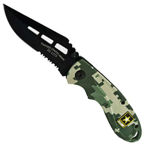 Schrade US Army Linerlock Black Folding Knife