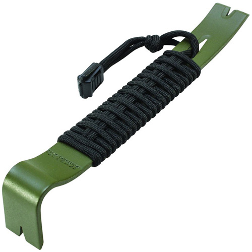 Schrade SCHPB1OD Olive Drab Green Paracord Wrapped Pry Bar