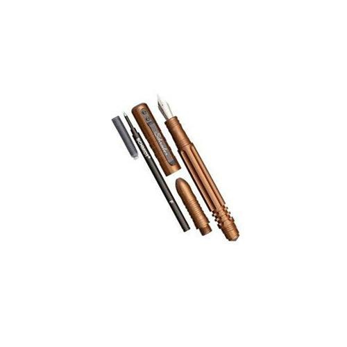 SCPEN3BR Schrade Knife Tactical Pen Brown Tactical Fountain &Amp Roller Ball Pen