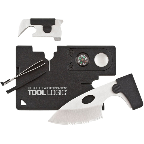 Sog Black Credit Card Companion With Lens Compass