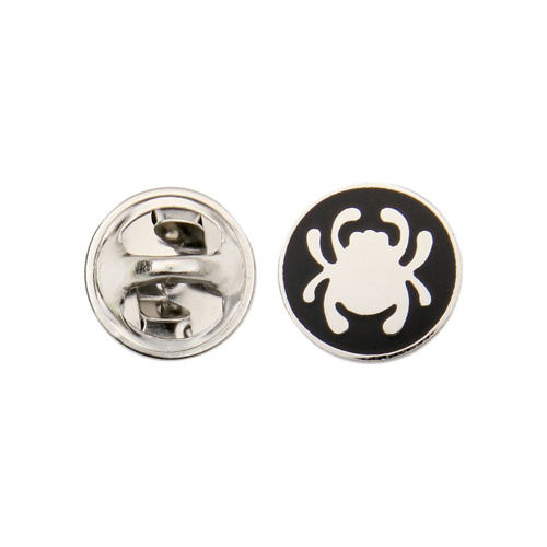 Spyderco Bug Logo Lapel Silver and Black Pin