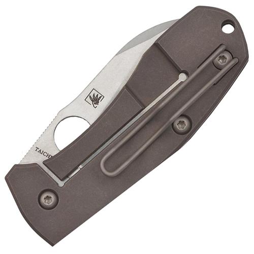 Spyderco Titanium Handle Reeve Integral Lock Folding Knife