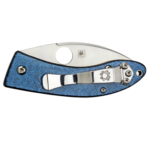 Spyderco Lil Lum Blue Nishijin Sprint Run Knife