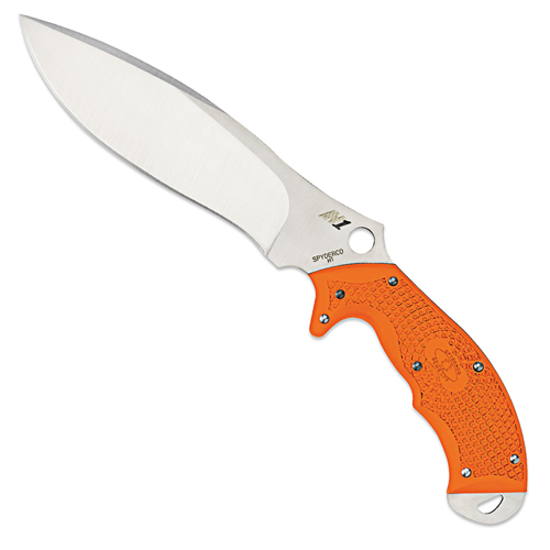 Spyderco Plain Orange Rock Salt  Fixed Blade Knife