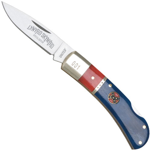 United Cutlery Lynyrd Skynyrd Rebel Lockback With Tin