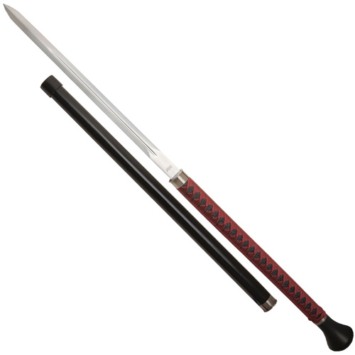 United Cutlery Black Red Forged Ball Ikazuchi Sword Cane