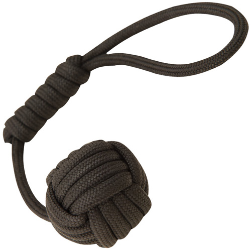 United Cutlery Elite Forces Paracord Monkey Black Fist Key Chain