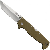 Cold Steel SR1 62LA Tanto Point Plain Edge Blade Folding Knife