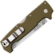 Cold Steel SR1 62LA Tanto Point Plain Edge Blade Folding Knife