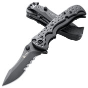 Mini My Tighe Black Veff Serration Edge Folding Knife