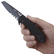 CRKT Follow-Through Compact Tanto Folding Knife Serrated