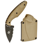 KA-BAR 1-1477CB-9 Coyote Brown TDI Law Enforcement Fixed Blade Knife