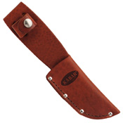 Game Hook Stacked Leather Handle Fixed Blade Knife w/ Sheath