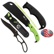 Zombie Zomstro GFN-PA66 Handle Fixed Blade Knife - Toxic Green