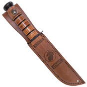 Ka-Bar 2-9169-2 Commemorative Knife USMC OEF Afghanistan Leather Sheath Fixed Blade Knife