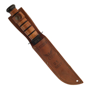 Ka-Bar 2-9170-8 Commemorative Knife USN OEF Afghanistan Leather Sheath Fixed Blade Knife