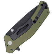 Kershaw Olive Black Knockout Assisted Opening Folding Knife