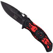 Dark Side Stamped Skull Handle 4.75 Inch Folding Knife