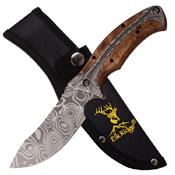 Elk Ridge Laser Etching Plain Blade Fixed Knife