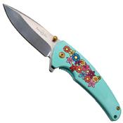 Femme Fatale A013 Electroplating 3D Floral Folding Knife