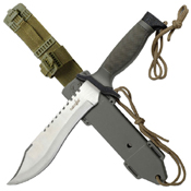 Heckler and Koch 5 Inch Blade Reverse Saw Serrated Fixed Knife