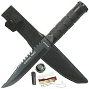 Silver Stainless Steel Blade 8.5 Inch Survival Knife
