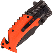 Master USA 3mm Thick Blade Folding Knife w/ Glass Breaker
