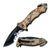 Mtech Xtreme Usa Desert Camo Spring Assisted Folding Knife