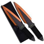 Perfect Point Orange Grinding Line Blade Throwing Knife-2 Piece Set