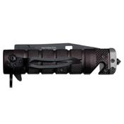 Tac-Force Black And Grey Aluminum Handle Folding Knife