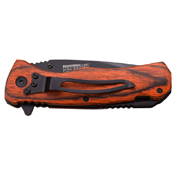 Tac Force Brown Pakka Wood 4.5 Inch Closed Folding Knife
