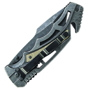 Smith and Wesson Border Guard Steel Handles 4.3 Inch Folding Knife