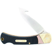 Schrade Old Timer Golden Claw Lockback Folding Knife With Gut Hook Blade