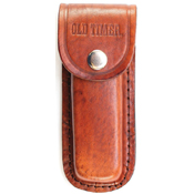 Schrade Old Timer Son Of A Gun Clip And Saw Blade Folder With Leather Sheath