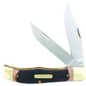 Schrade 5 1/4 Inch Es Folding Hunter 2 Bladed With Leather Sheath