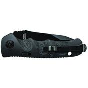 Schrade Mini Tanto Steel Push Button Lock Black Folding Knife