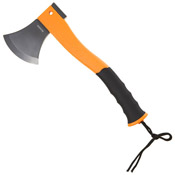 Schrade Stainless Steel Blade With Fire Striker Orange Handle Axe